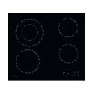 Ariston HR 602 BA Built in Ceramic Hob Kompor Listrik - Black