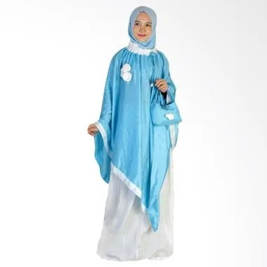 Makin Ayu Cantik Mukena - Light Blue White