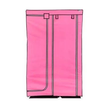 Nine Box DW Lemari Pakaian - Pink [2 pintu]