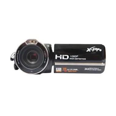 X-Pro Cam DVC HDV-PZ3000 Handycam - Hitam [24 MP] FREE Memory 16GB