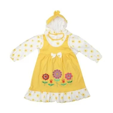 4 You Ribbon Dress Baju Muslim Anak - Kuning