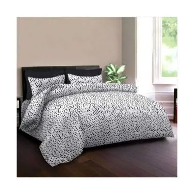 King Rabbit Motif Autograph Sign Bed Cover - Hitam