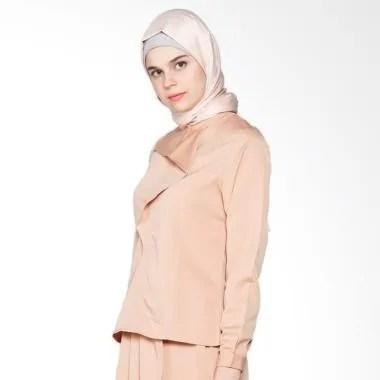 Covering Story Salima Top Blouse Muslim Atasan Wanita - Cream