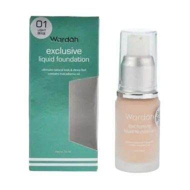 Wardah Exclusive Liquid Foundation - 01 Light Beige [20 mL]