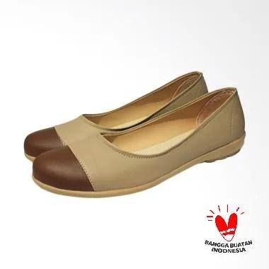 Bavy Sepatu Flat Wanita - Tan Cream
