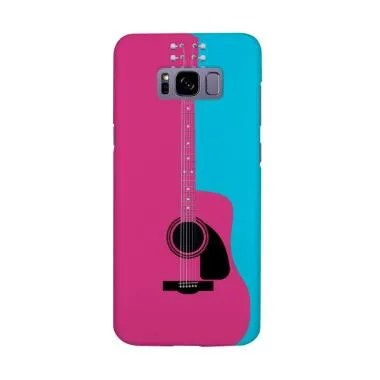Indocustomcase Pink Acoustic Guitar ... or Samsung Galaxy S8 Plus