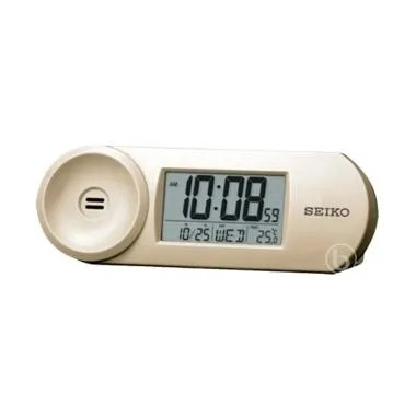 Seiko QHL067A Digital Desktop Alarm Clock - Gold
