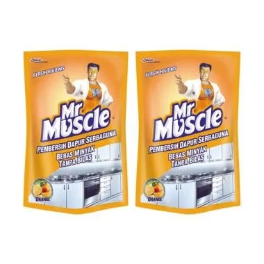 MR. MUSCLE 244400000 Kitchen Original Pouch [2 Pcs x 400 mL]