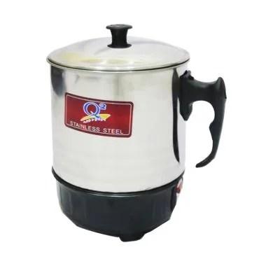 Q2 Electric Heating Mug - Silver [Diameter 13 cm]