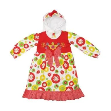 4 You Sunflower Moslem Dress Anak - Merah