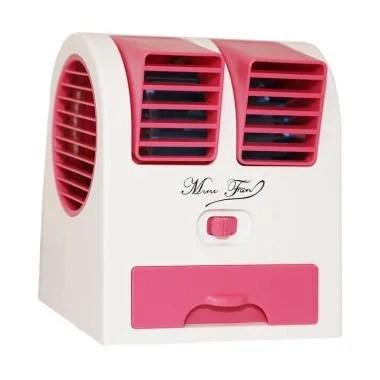 Goshop Double Blower Mini Fan AC Portable - Pink