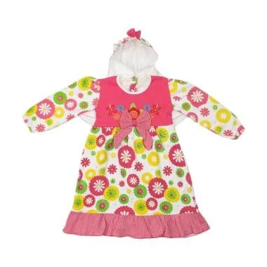4 You Sunflower Moslem Dress Anak - Pink
