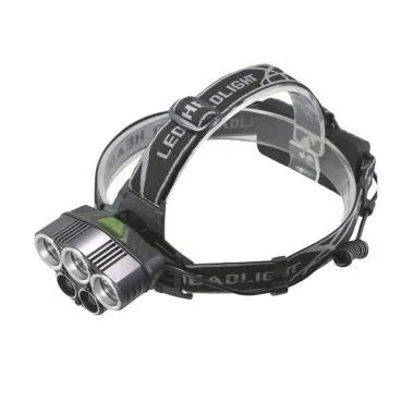 Headlamp HL302 3 x Cree XM-L + 2 x Blue LED Senter Kepala LED