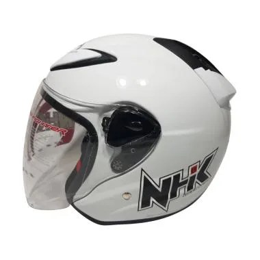 NHK R6 Helm Half Face - Solid White