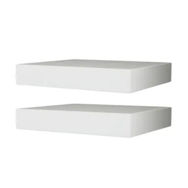 DEcTionS Floating Shelves Set Rak Dinding - Putih [30 x 20 cm/ 2 pcs]