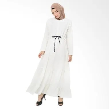 Xq Moslem Wear Tiara Dress Muslim - White