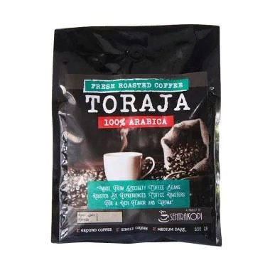 Sentra Kopi Arabika Toraja Ground Coffee Biji Kopi [500 g]