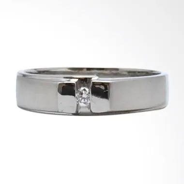 Pentacles FC01538 Wedding Ring White Gold with Diamond
