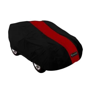 Mantroll Cover Mobil for Toyota Etios Valco - Hitam Strip Merah