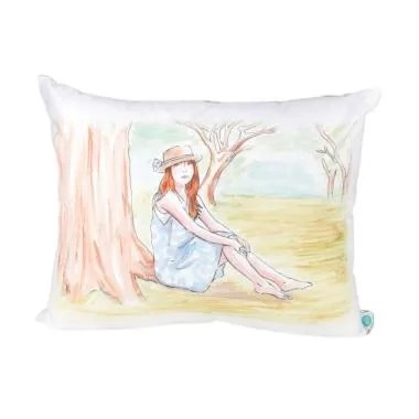 Salse Living A Girl in the Park Kanvas Bantal - Pink [40 x 50]