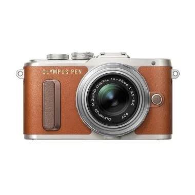Olympus PEN E-PL8 Kit 14-42mm Kamer ... s - Coklat Free SDHC 16GB