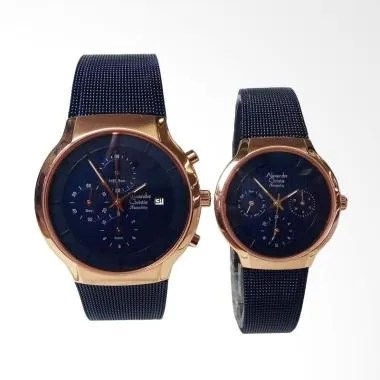 Alexandre Christie AC6245MC/BF Tran ... an Couple - Blue Rosegold
