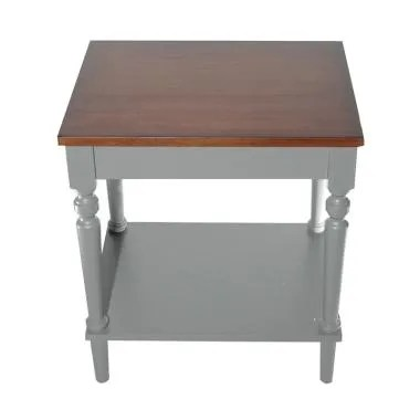 Infinia Home Knock Down End Table (Meja Kayu) - Grey
