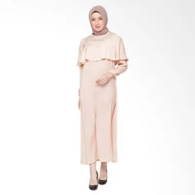 Heart and Feel Muslim 3034.D Soft D ... ered Gamis Wanita - Peach