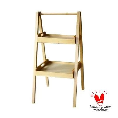 Uwitan Ladder Shelf Rak Sepatu - Natural