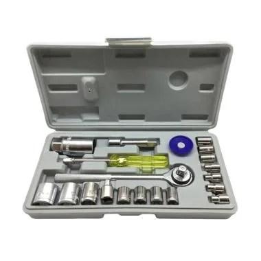 Generic KTP Kunci Sok Set Alat Bengkel Motor [21 Pcs]