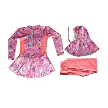 Rainy Collections Motif Bunga Baju  ... - Pink Salem [5-11 Tahun]