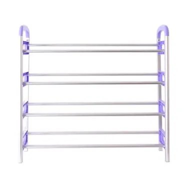 HAUZ Almunium Shoe Rack - Purple [4 Layer]