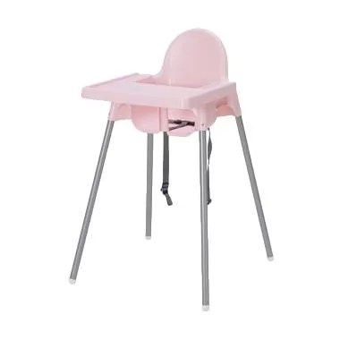 Ikea Antilop Baby High Chair Kursi Makan Anak with Tray - Pink