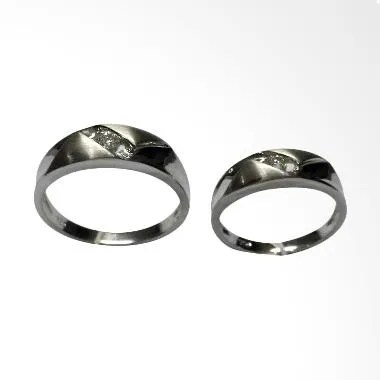 Pentacles GICI-14 Wedding Ring White Gold with Diamonds