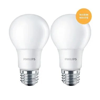 Philips Lampu LED Bulb 5 (50W) Warm White/Kuning - 2 Pcs