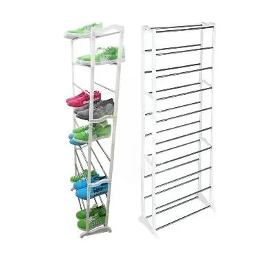 DQueeny Shop Amazing Shoe Rack / Rak Sepatu Portable 10 Susun - Putih
