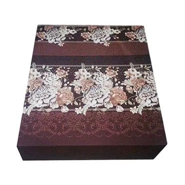 Anoria Flower Kasur Busa - Brown [King Size/200 x 180 x 15 cm)