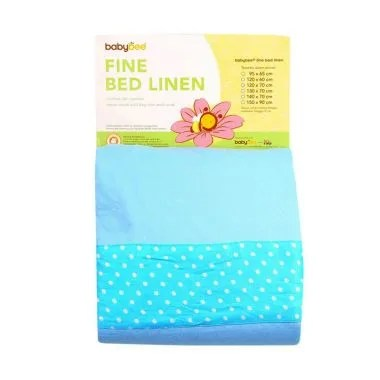 Babybee Fitted Bed Sheet Blue Polka ...