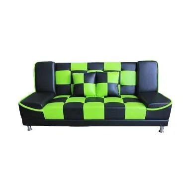 Best Furniture Wellington's Chess Sofa Bed - Hitam Hijau