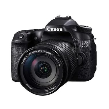 Canon EOS 70D Kit 18-200mm f/3.5-5.6 IS WiFi Hitam Kamera DSLR