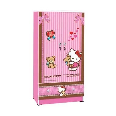 FCENTER Lemari 2 Pintu Hello Kitty Best Friend [80x42x160]