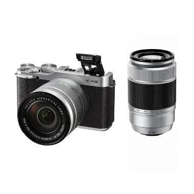 Fujifilm X-A2 Double Kit 16-50mm &  ... rless - Silver fujishopid