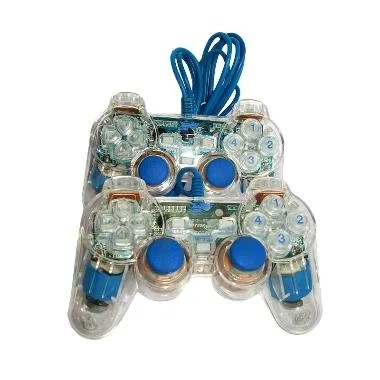 Digigear Gamepad Joystick Double Transparant - Blue