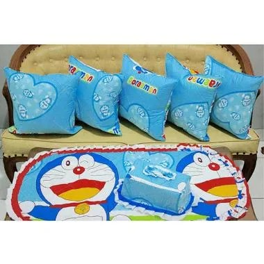 Kingsprei Doraemon Love Set Sofa - Biru
