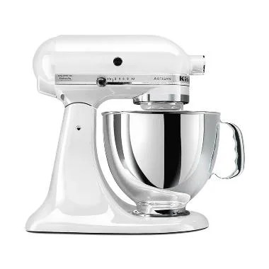 Kitchen Aid 5KSM150PSWH Artisan Series 5-Quart Stand Mixer - White