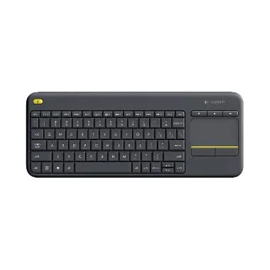 Logitech K400 Plus Wireless Touch Keyboard - Black [Garansi Resmi]