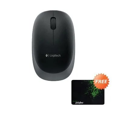 Logitech M165 Mouse Wireless + Gaming Mousepad