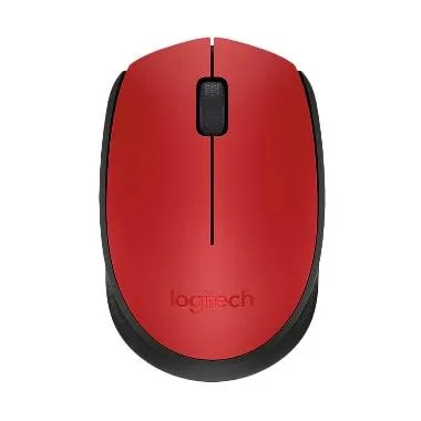 Logitech Mouse Wireless M171 - Merah