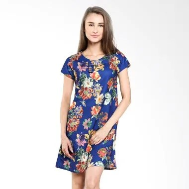 Majesty Mode DK-141N Navy Dress Wanita