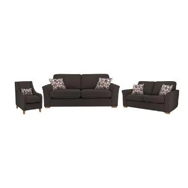 Malibu Everland 321 Seater Sofa - Dark Brown